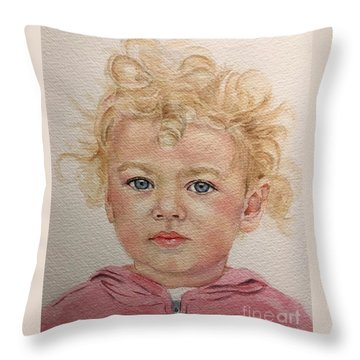 Blonde Girl Throw Pillow