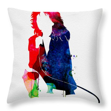 Blondie Watercolor Throw Pillow
