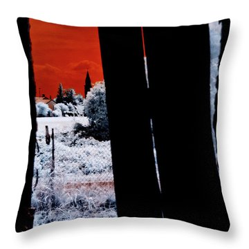 Blood And Moon Throw Pillow