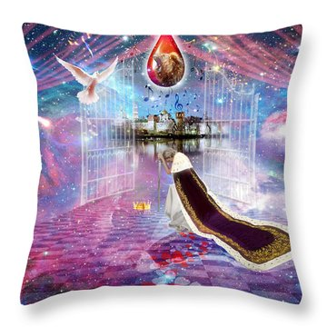 Blood Bought Throw Pillow by Dolores Develde