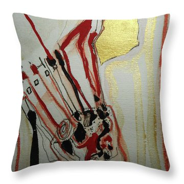Blood Flowers Throw Pillow