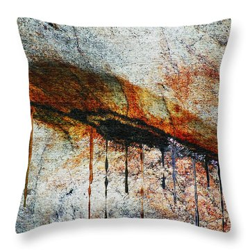 Blood From A Stone Throw Pillow by RC deWinter