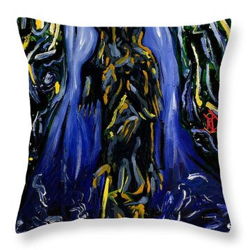 Blood Gulch Throw Pillow by Ryan Demaree