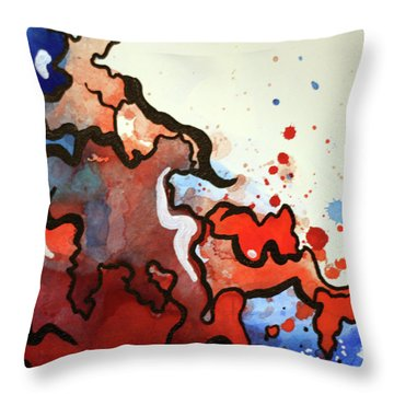 Blood In The Water 2 Of 4 Throw Pillow