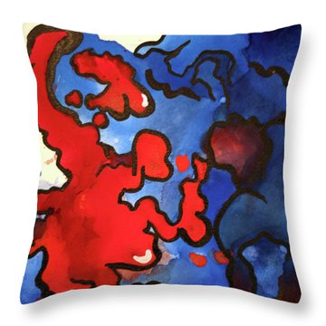 Blood In The Water 3 Of 4 Throw Pillow