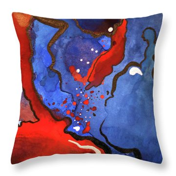 Blood In The Water 4 Of 4 Throw Pillow