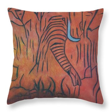 Blood Ivory Throw Pillow