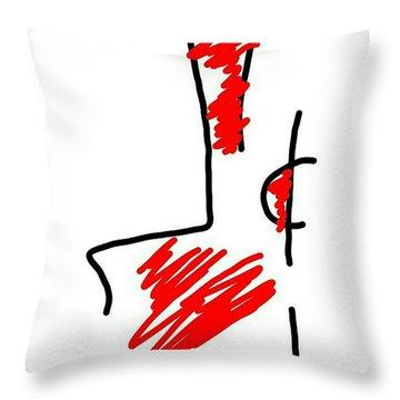 Blood Money Throw Pillow