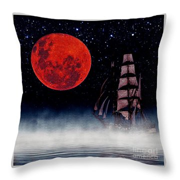 Blood Moon Throw Pillow by Blair Stuart