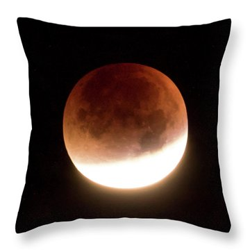 Blood Moon Eclipse Throw Pillow by Wim Lanclus