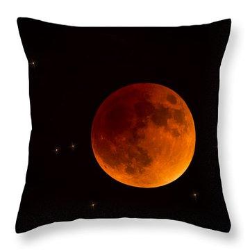 Blood Moon Lunar Eclipse 2015 Throw Pillow