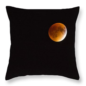 Blood Moon Luna Eclipse Throw Pillow
