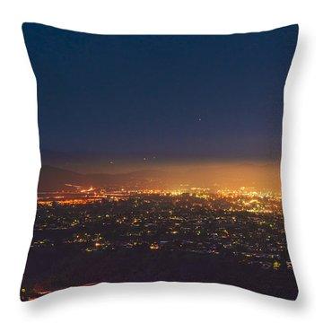 Blood Moon San Diego Throw Pillow