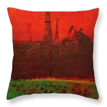 Blood Of Mother Earth Throw Pillow