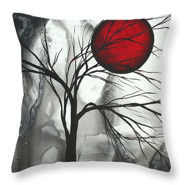 Blood Of The Moon 2 By Madart Throw Pillow by Megan Duncanson