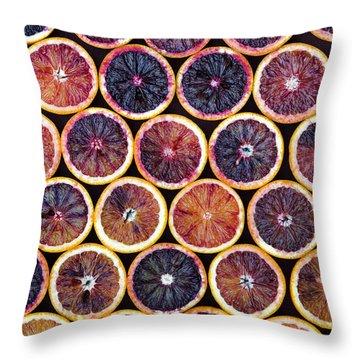 Blood Oranges Pattern Throw Pillow