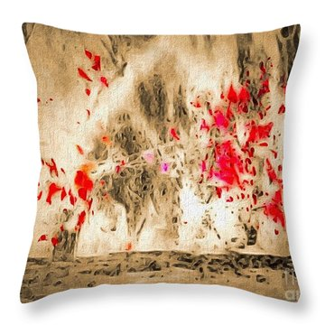 Blood Sport Throw Pillow by William Wyckoff
