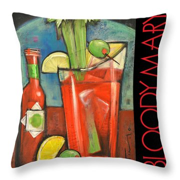 Bloody Mary Poster Throw Pillow by Tim Nyberg