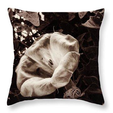 Bloom In Sepia Throw Pillow