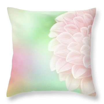 Throw Pillow featuring the photograph Bloom by Robin Dickinson