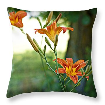 Bloom Where You're Planted Throw Pillow by Cricket Hackmann