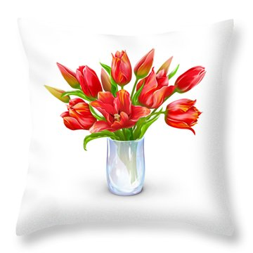 Bloomers Throw Pillow by Now