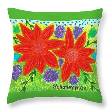 Bloomin' Blossoms Throw Pillow