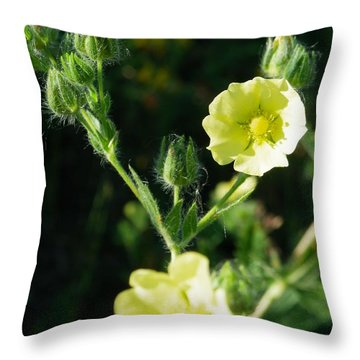 Bloomin Happy 1 Throw Pillow