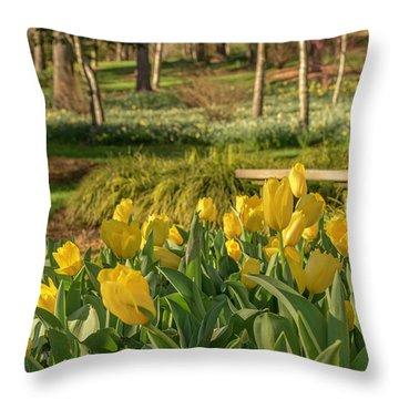 Bloomin Tulips Throw Pillow