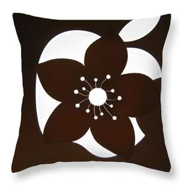 Blooming Apple Mac Throw Pillow