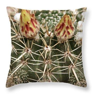 Blooming Cactus1 Throw Pillow