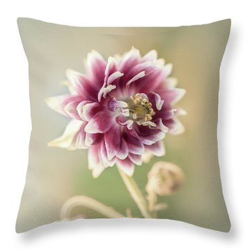 Blooming Columbine Flower Throw Pillow