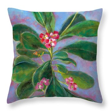 Blooming Crown Throw Pillow