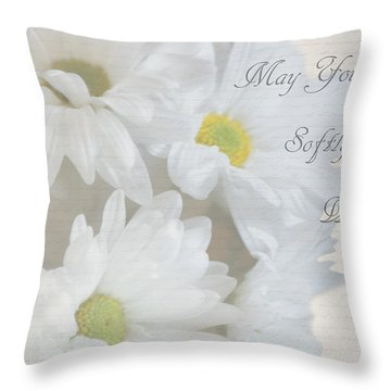 Blooming Daisies Throw Pillow
