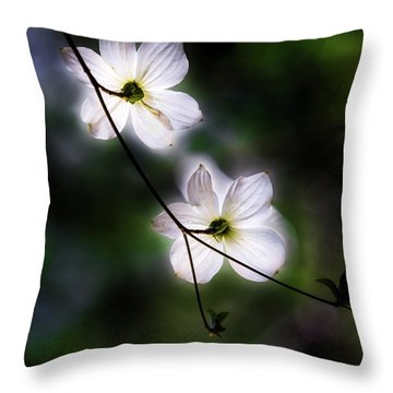 Blooming Dogwoods In Yosemite 2 Throw Pillow