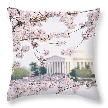Blooming Frame Throw Pillow