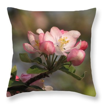 Blooming Throw Pillow by Kimberly Mackowski