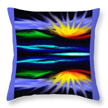 Blooming Lotus Throw Pillow by Jennifer Galbraith