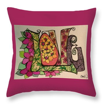 Blooming Love Throw Pillow