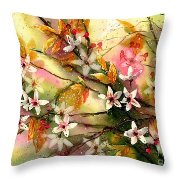 Blooming Magical Gardens II Throw Pillow