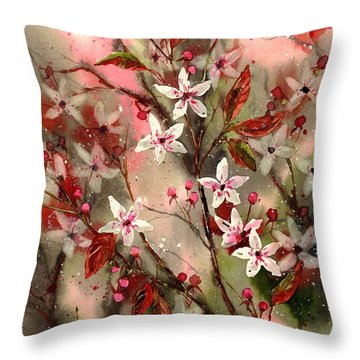 Blooming Magical Gardens Throw Pillow