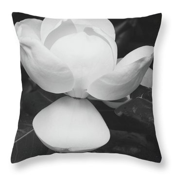 Blooming Magnolia- Art By Linda Woods Throw Pillow