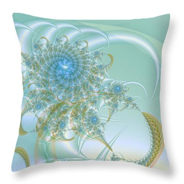 Blooming Nebulae Throw Pillow by Frederic Durville