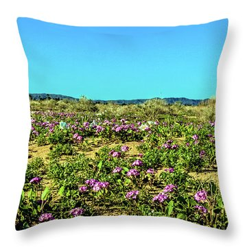 Throw Pillow featuring the photograph Blooming Sand Verbena by Robert Bales