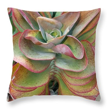 Blooming Succulent Throw Pillow