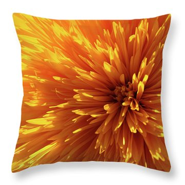 Blooming Sunshine Throw Pillow by Marie Leslie