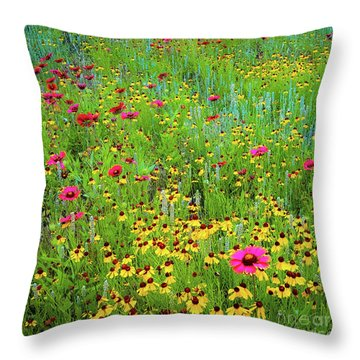 Blooming Wildflowers Throw Pillow