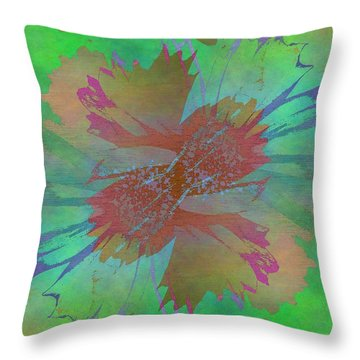 Blooms In The Mist Throw Pillow by Tim Allen