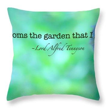 Blooms The Garden Throw Pillow by Bonnie Bruno