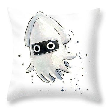 Blooper Watercolor Throw Pillow